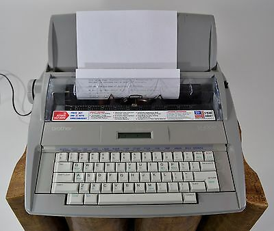 Brother SX-4000 Electronic Typewriter Daisy Wheel Display Dictionary Works!