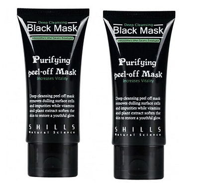 2x SHILLS blackhead Remover Deep Cleansing purifying acne black mud face mask