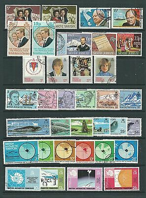 B.A.T.1972-83 selection of 9 complete sets, fine cds used, Cat.£24.