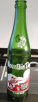 1966 Mountain Dew 10oz Glass Bottle Hillbilly Style It'll Tickle Your Innards!