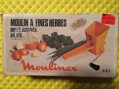 Vintage Mouli Parsmint by Moulinex 443 Herb Grater Made in France Free Shipping