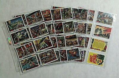 Mars Attacks Trading Cards 1984 Reprints Complete Set and 1-4 Premium Cards