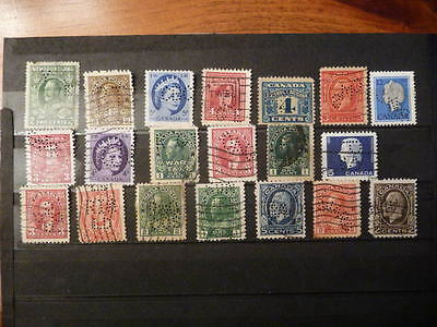 Used Canadian Perfin Stamps