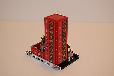 Ho Scale Slot Car Scenery / Accessory / LEADERBOARD TOWER,LIGHTED,has 15 PEOPLE