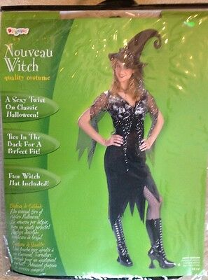 NWT Nouveau Witch Adult Costume By Disguise Sz 12-14 Halloween