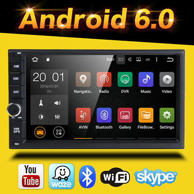 Android 6.0 4-Core Radio 2-DIN Car Stereo No-DVD Tablet BT GPS Touch Screen OBD