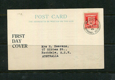 Guernsey Gb Uk 1941 Fdc Channel Islands First Day Cover On Post Card