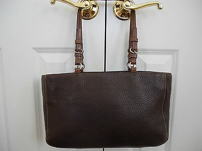 Coach Chelsea Brown Pebbled Leather Tote Shoulder Bag Purse style F10892