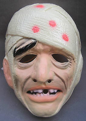 The Mummy Halloween Mask Adult Universal Monster Ben Cooper 1980 Karloff.