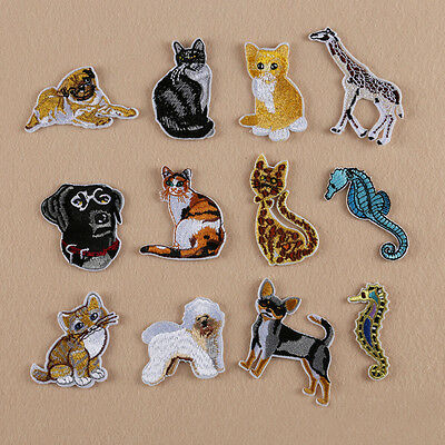 Iron Sew on Embroidered Badge Animal Tiger Cat Dog Lion Wolf Bag Patch Applique