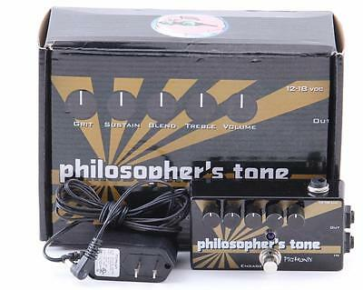Pigtronix Philospher's Tone Guitar Effects Pedal & Power Supply PD-2680