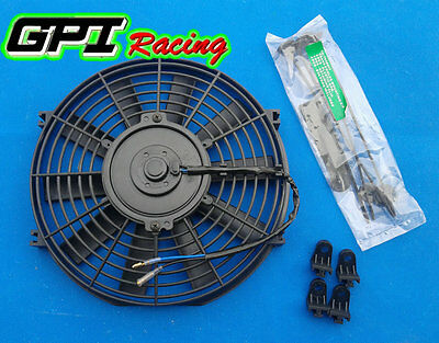 "10"" 10Inch 12 Volt Electric Cooling Fan Push Pull For Radiator Intercooler + kit"