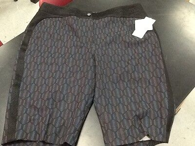 "Nwt Ep Pro Womens Athletic Melbourne 23"" Fashion Golf Shorts, Sz 10 Black Multi"