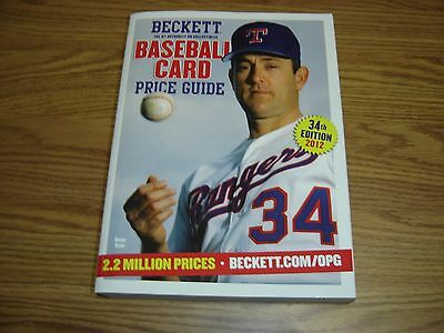 Beckett Baseball Price Guide 34th Edition (2012) - Nolan Ryan on cover