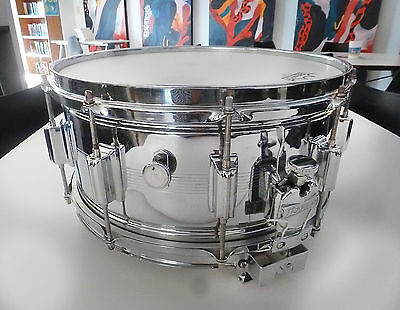 Vintage Rogers DYNA-SONIC Rare Seven Line 6 1/2 X 14 Snare Drum 1965 A Beauty!