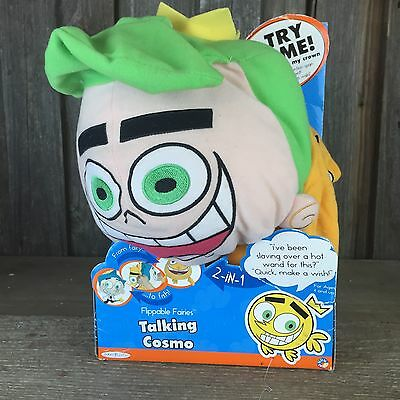 New Nick Jr Fairly Odd Parents Talking Cosmo Goldfish Stuffed Animal Excellent