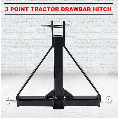 "3 Point Trailer Hitch Attachment 1 Tractor Tow Hitch Drawbar Adapter 2"" Receiver"