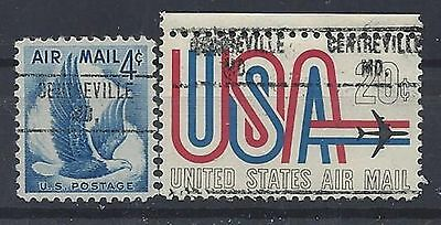 Maryland Precancels, Air Mail, Centreville, Type 748, 2 Different
