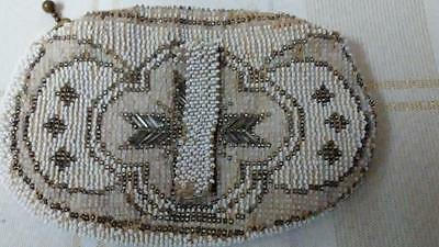 """Vintage Beaded Art Deco Coin Change Purse Made in Czechoslovakia 5.5"""" x 4"""""""