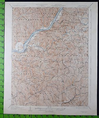 St Marys West Virginia 1927 Antique USGS Topographic Map 17x20