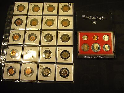20~Unc Coins 1959-1966 With  1982-S Proof Set