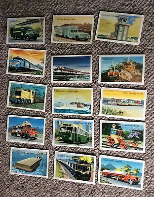 Vintage Shell Project Cards Transportation Series 15 Cards truck train bus car