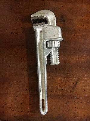 """Schick Aluminum 10 inch Adjustable Pipe Wrench 1/4"""" - 1"""" A1 U.S.A."""