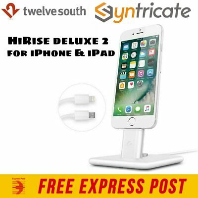 Twelve South HiRise Deluxe 2 Stand Dock for iPhone 7/7 plus/iPad/Android- White