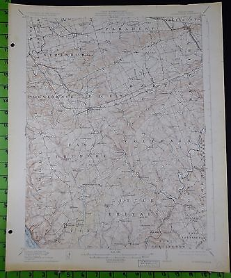 Quarryville Pennsylvania 1926 Antique USGS Topographic Map 16x20