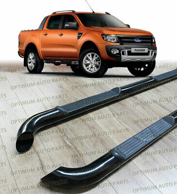 FORD Ranger PX PX2 2012-2017 Dual Cab Running Boards Black Side Steps