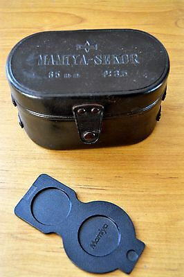 Mamiya TLR Leather Lens Case and camera faceplate