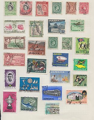 "£1.49 start -  An old album page of ""JAMAICA"" issues"