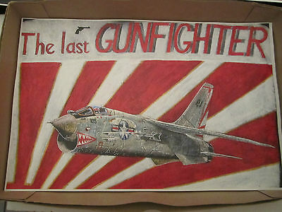 Usaf Usn Flight Jacket F-8 Crusader Vietnam Art Series 1 Print