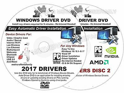 windows drivers 2017 for microsoft windows all driver packs on dvd 2017 easy windows drivers dvd 2 disc set support window 8 7 vista xp