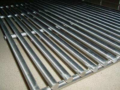 STAINLESS STEEL BBQ GRILL GRILLE PLATE 49  X 40 cm  SOLID BARS NEW GRATE