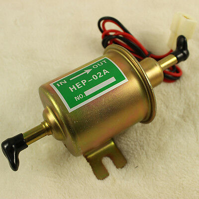 12V HEP-02A Electric Fuel Pump For Motorcycle Low Pressure Carburated fp 02 ATV