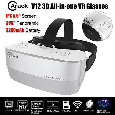"Caraok V12 5.5"" IPS Screen 3D VR Box Virtual Reality Goggles Glass 360°Panoramic"