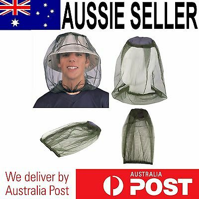 Mosquito Bug Insect Mesh Head Hat Net Face Protector for Travel Camping Fishing