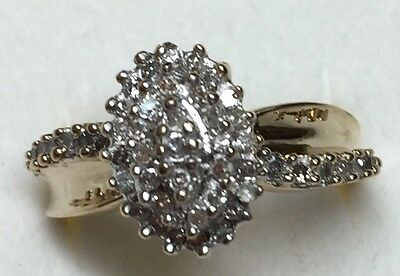 1/2 Ct Natural (REAL) DIAMOND Engagement  RING solid yellow GOLD