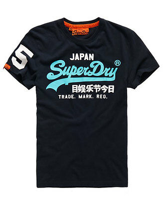 Men's SUPERDRY Vintage Logo New Entry Tee T-shirt ECLIPSE NAVY / NEW