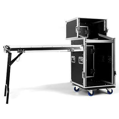 "Rack Flight Case 19"" 16U All In 1 Performance Case Table Portable Dj Wood Metal"