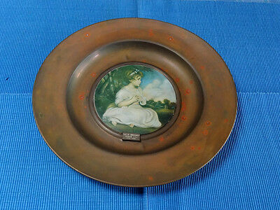 "VINTAGE 'TRAFFORD' OLD MASTERS WALL PLAQUE,""AGE OF INNOCENCE"",plate,vase,antique"
