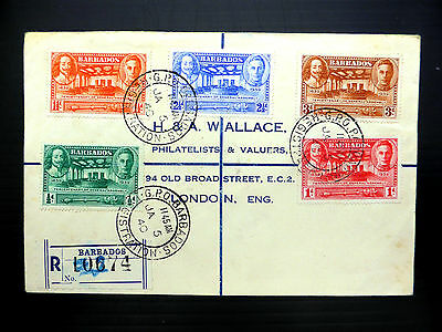 BARBADOS 1940 General Assembly (5) on Registered FDC to London XY312