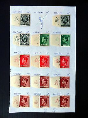 GB G.V & Ed.VII Controls on 4 Pages Mounted Mint XZ48