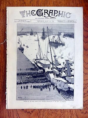 The Graphic Weekly July 19th 1879 Prince Napoleon Funeral Ex Bound Edition