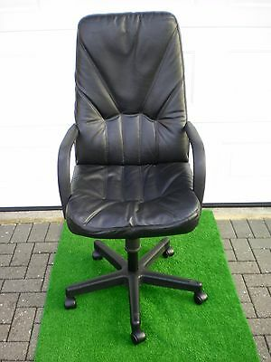 High back black leather Executive office chair.