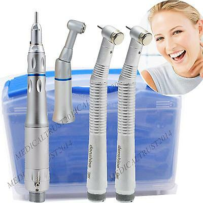 dental 2pcs high speed +low speed handpiece 2 Hole complete FIT NSK w carry case