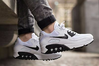Nike Air Max 90 White Leather New Trainers Shoes Sneakers UK 4.5, 5, 6 Authentic