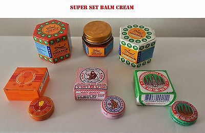 SET Balsamo di tigre Tiger Balm Golden Cup White Monkey 5 Pagoda best BALM Thai
