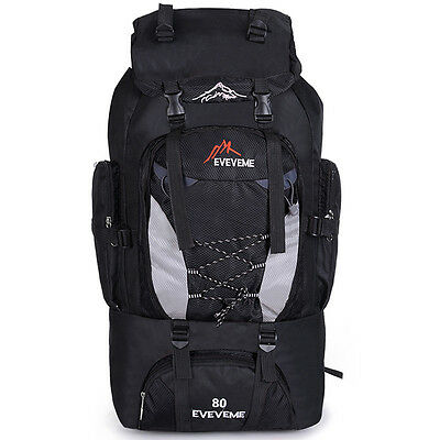80L Outdoor Large Capacity Hiking Camping Backpacks Traveling Bags Climbing Bag